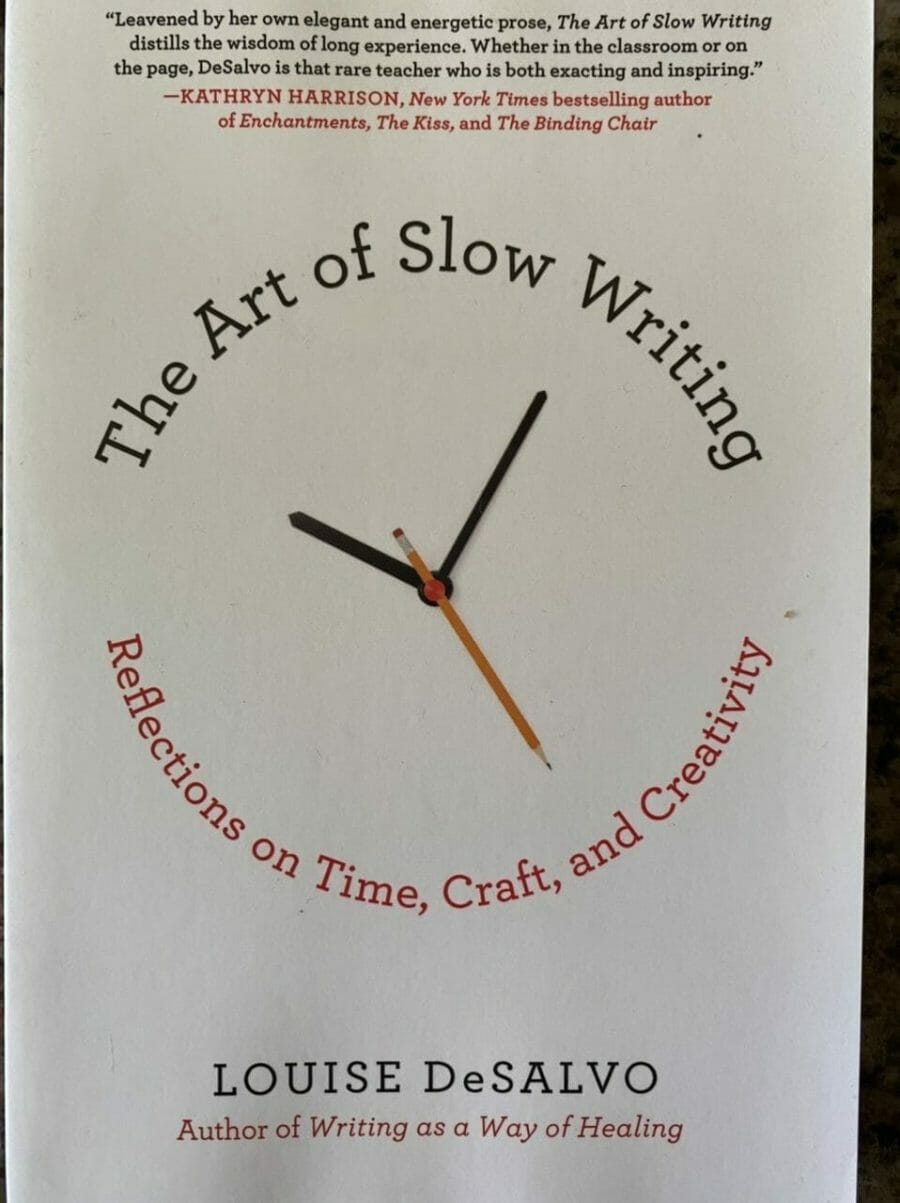 Book cover for The Art of Slow Writing