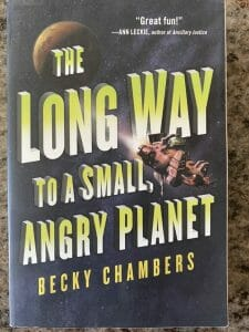 Book cover of The Long Way to a Small Angry Planet