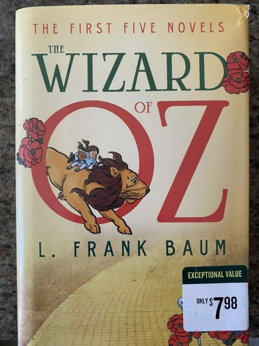 Book Cover for the first five The Wizard of Oz novels