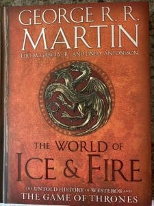 Book cover for The World of Ice & Fire