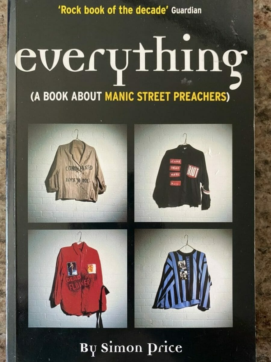 Book cover for Everything: A Book about Manic Street Preachers