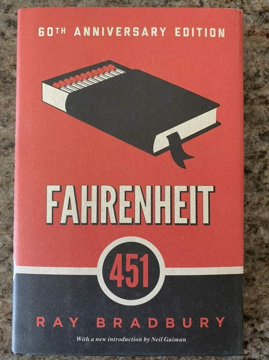Book cover for Fahrenheit 451